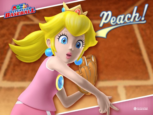 Even Princess Peach tried her hand at baseball!
