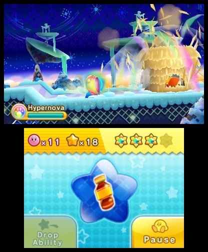 A good dose of property destruction via Kirby's new Hypernova power.