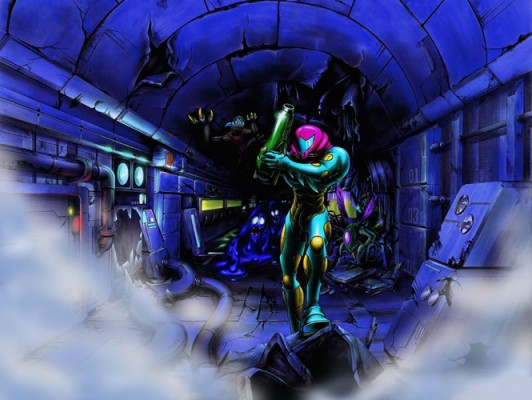 Metroid Fusion still has plenty of the desolate atmosphere we associate with the series.
