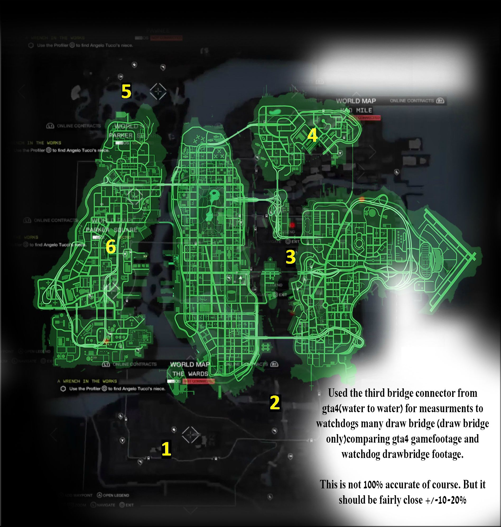 Watch dogs map leaked here is the gta 4 map green placed over the watch dogs map gumiabroncs Choice Image