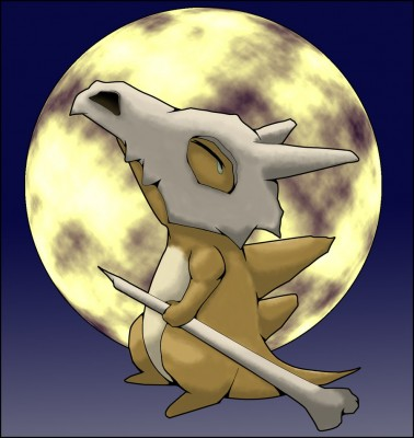 And here we have Cubone crying tears of unfathomable sadness.