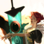 transistor red and sword