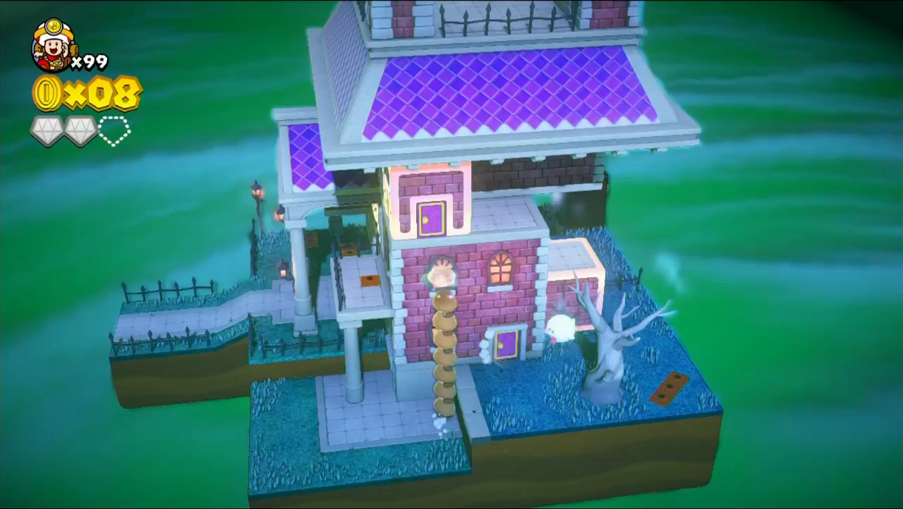 Ghost houses retain their tricky design from previous Mario titles.