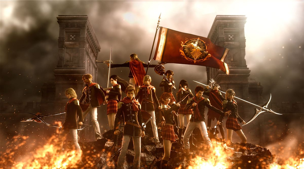 Final Fantasy Type-0 flames