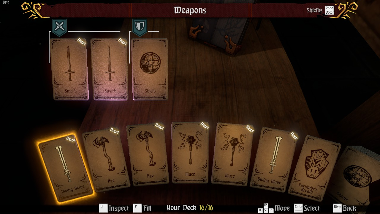 Hand of Fate Inventory