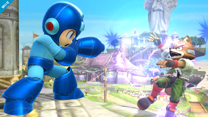 Mega Man is not afraid to shoot one of Smash's most popular characters right in the face.