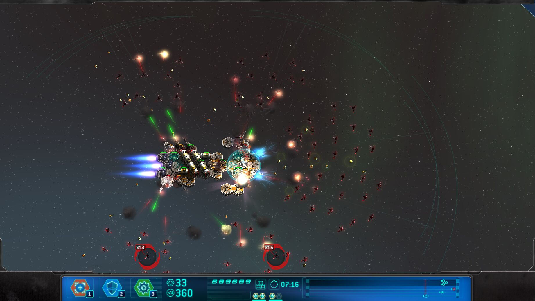 space run surrounded