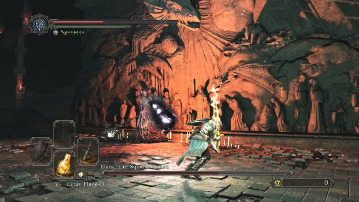 While the DLC only has 3 new boss fights, Elana makes up for the fact by being able to summon a certain bell-toting boss from the main game.