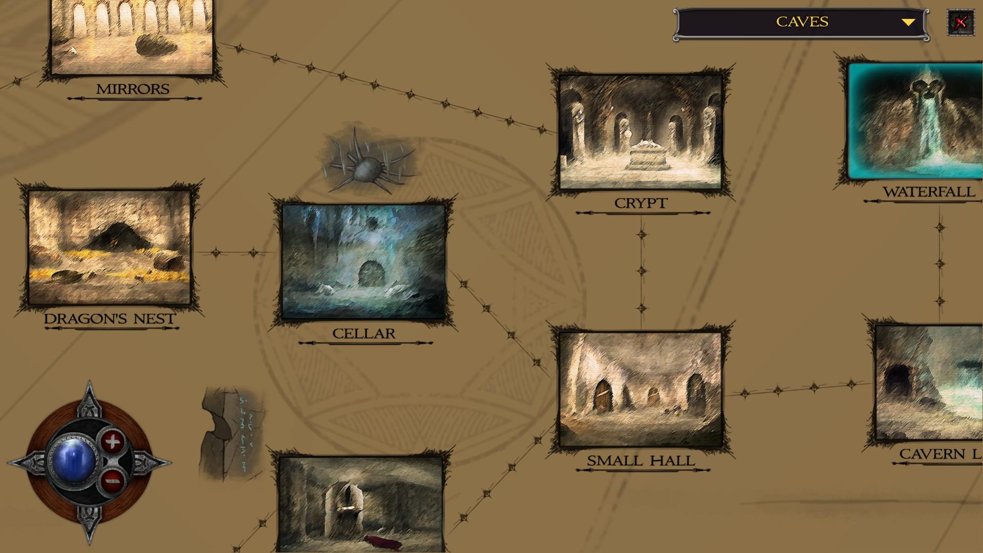 shadowgate map