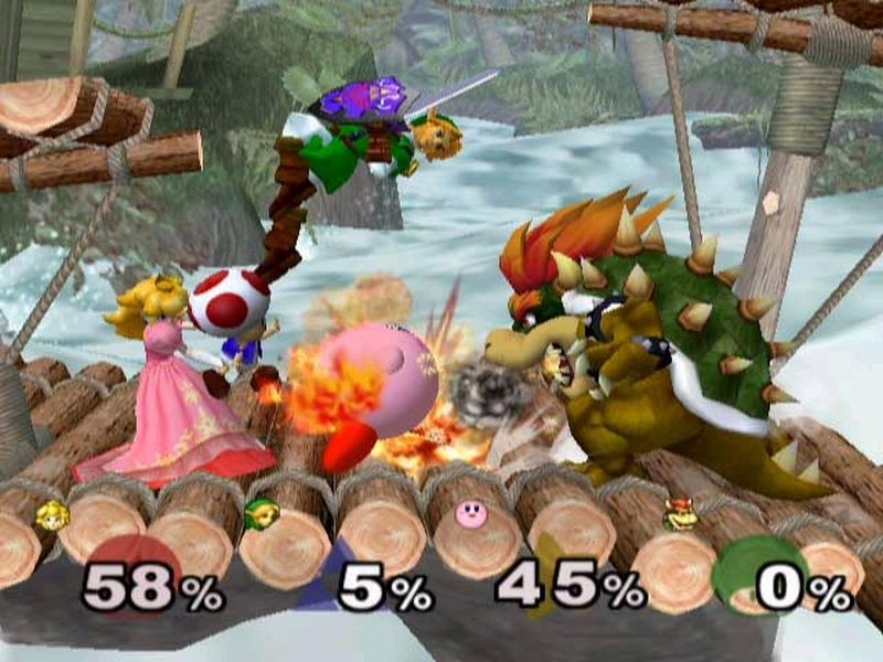 Super Smash Bros. Melee battle