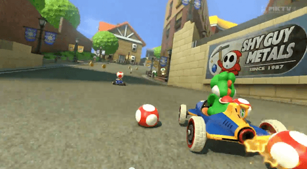 Look at him with that pick axe! He's so cute. Mario Kart 8, you know what we want.